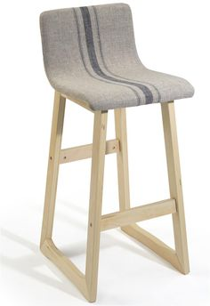 Check out this fabric barstool with bentwood legs today.  Shop Displays2go for more inventory, information, and pricing.