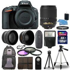 Nikon D5500 Digital SLR Camera Black + 3 Lens Kit 18-140mm VR Lens + 32GB Bundle #Nikon