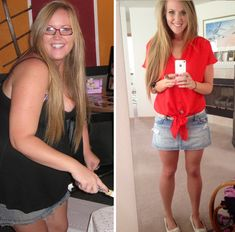 From 256lbs to 163lbs. Click through to see how she did it!