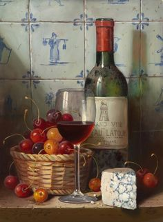 Raymond Campbell, 'Chateau Latour', oil on board, signed