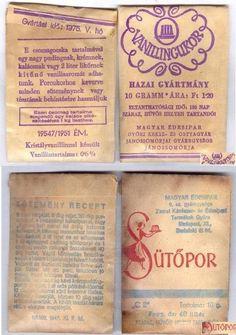 Vanilliáscukor és sütőpor (70's) My Memory, Hungary, Budapest, Childhood Memories, Retro Vintage, 1, History, Random, School