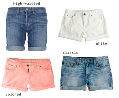 denim shorts round up by cupcakes and cashmere.