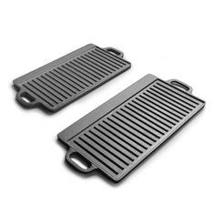Cast iron Outdoor Double handle Griddles Double Sided Grill Pans Fry Skillet - Grill Pans - Ideas of Grill Pans Griddle Grill, Grill Pan, Barbacoa, Cast Iron, It Cast, Griddles, Tray Bakes, Cool Kitchens, Grilling