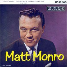 Matt Monro, singer of On Days Like These. Find Music, I Love Music, Kinds Of Music, Matt Monro, The Italian Job, Music Online, Vinyl Labels, Music Pictures, Blues Music