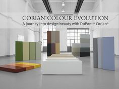 New European Corian® colours unveiled at Milan Design Week Photo by Leo Torri. Corian Colors, Dupont Corian, New Countertops, World Of Color, Interior Exterior, Colours, Range, Design, Home Decor