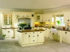 Kitchen : Wooden Kitchen Countertops With Classic Design Cabinets L Shape With Small Cupboards For Modern Country Model Kitchen Ideas collection picture brandnew model kitchen ideas Kitchen Design Ideas' Kitchen Ideas Cook Room Cabinets Home Depot as Wooden Kitchen Cabinets, Kitchen Doors, Kitchen Countertops, New Kitchen, Wooden Counter, White Cabinets, Kitchen White, Kitchen Ideas, Cream And Oak Kitchen