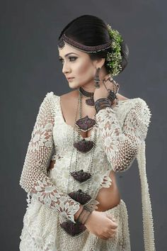 Dressed by Sandareka Fernando Bridal Sari, Saree Wedding, Indian Bridal, Wedding Bride, Bridal Dresses, Sri Lankan Wedding Saree, Sri Lankan Bride, Bridesmaid Saree, Bridal Dress Design