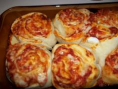 Pizzabons; could also be meatless and yeast dough