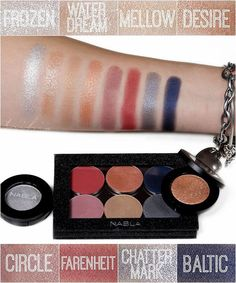 """""""Artika Collection"""" shadows , by Nabla Cosmetics. Nabla Cosmetics, Eye Products, Makeup Swatches, Color Stories, Colorful Makeup, Indie Brands, Dupes, Shadows, Eye Makeup"""
