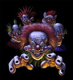 Killer Klowns From Outer Space Movie Poster. Joker Clown, Clown Horror, Creepy Clown, Arte Horror, Halloween Horror, Scary Circus, Creepy Carnival, Carnival Costumes, Clown Tattoo