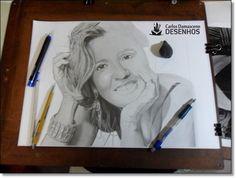 desenho de retratos como um mestre