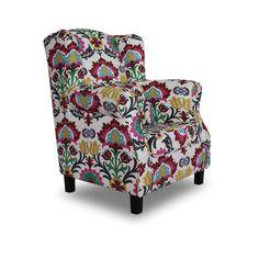 KRESLÁ   Kreslo ušiak MELA s vankúšom vzor kvety   Sedačky, sedacie súpravy, pohovky, polohovacie kreslá