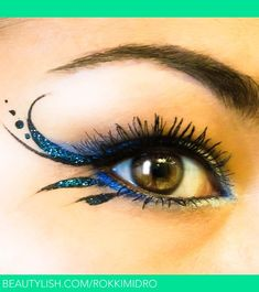 Cool Blue Winged Liner | Rochelle M.'s (rokkimidro) Photo | Beautylish  For Ren Fest next year!