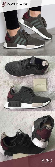 New Adidas NMD R1 Utility Grey NO TRADES•••• use offer feature •••• New Women Adidas NMD. Featherweight sneakers with the adidas boost cushioning. Upper is made of suede and neoprene which makes these. Also have EVA foam plugs which provides more comfort