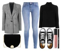 """""""street style"""" by sisaez ❤ liked on Polyvore featuring Alexander Wang, Ted Baker, Calvin Klein 205W39NYC, Converse, Bare Escentuals and Maybelline"""