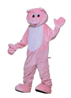 Forum Deluxe Plush Pig Mascot Costume Tag someone who should wear this! #Funny #Halloween #Costume