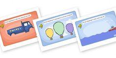 PlayDough-bilder med bilar, båtar och annat