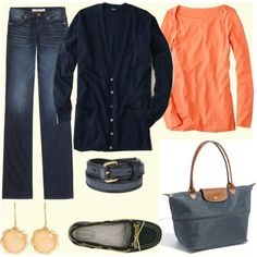 love the navy and coral