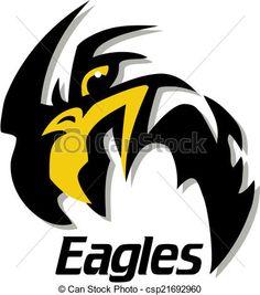 Vector - eagle mascot design - stock illustration, royalty free ...