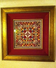 counted needlepoint red  by Deebs Fiber Arts, via Flickr