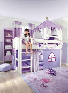 Dream Girls Bed/ Designer Mid sleeper/ Luxury Cabin Beds for Girls