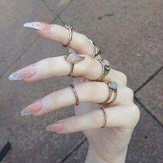 #nails #grunge #rings #pale #sadness