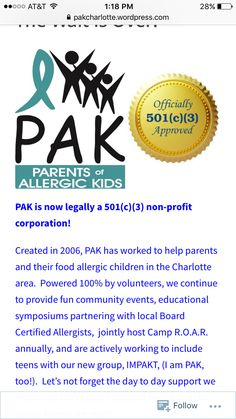 PAK is now a 501(c)(3). Please check out all of the details at pakcharlotte.org