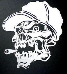 Skull with cap n cigar Tatto Skull, Skull Tattoo Design, Skull Art, Free Stencils, Stencil Templates, Templates Printable Free, Air Brush Painting, Stencil Painting, Airbrush Skull