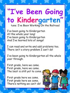 """Song, """"I've Been Going to Kindergarten"""" (tune; """"I've Been Working on the Railroad; free from Freebielicious)"""