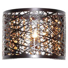 ET2 Lighting Inca 1-Light Wall Sconce Brown