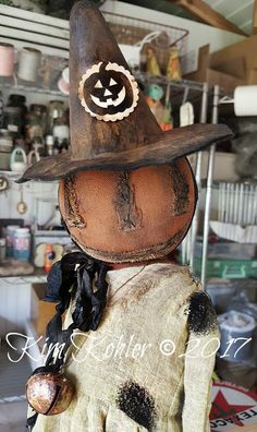 Your place to buy and sell all things handmade Halloween Doll, Halloween Pumpkins, Fall Halloween, Halloween Crafts, Halloween Decorations, Fall Decorations, Halloween Stuff, Happy Halloween, Cowboy Christmas