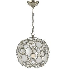 This Crystorama Palla Antique Silver Leaf Wrought with Iron Suspension is a popular item at Union Lighting in Montreal.