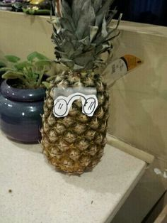 I seriously drew glasses, cut them out, and taped them to a pineapple to make a reference to Eddsworld (Tom's father was a pineapple). Please help me.