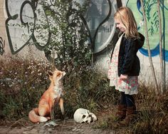 Photorealistic Paintings Mixed with Graffiti by Kevin Peterson, http://itcolossal.com/kevin-peterson-painting/