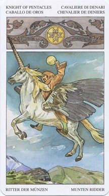 Knight of Pentacles from the Sorcerers Tarot