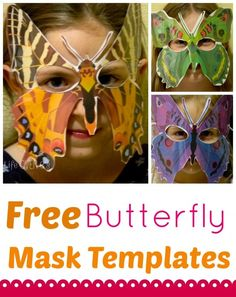 Free Butterfly masks are a great additional to your butterfly life cycle unit!