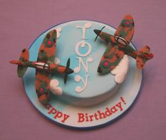 Birthday Cake Spitfires - For all your cake decorating supplies, please visit craftcompany.co.uk