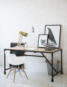 Industrial desk - man office