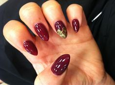 Heart tip almond nails!