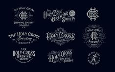 A collection of hand-drawn logotypes, sketches and branding concepts from 2015