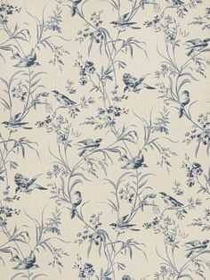 Aviary Toile - Indigo Product ID: Fbc 4754602 Manufacturer: Fabricut Wallpaper Color: Indigo Width: 27 Content: 100% Paper Horizontal Repeat: 27 Vertical Repeat: 25.3 Usage: Wallcovering