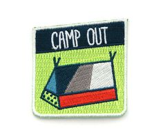 Are you an avid camper? Would you consider yourself an outdoorsy type of person? Do you own a tent?    Then this patch is for you!! Snag this