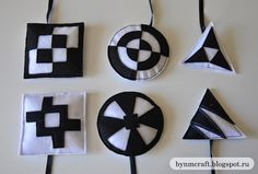 Black and White Felt Mobiles