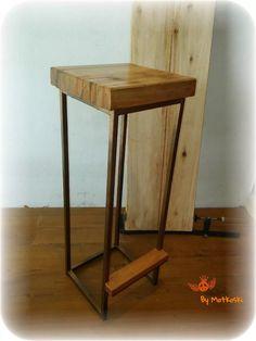 taburete alto - estilo vintage industrial, campo, antiguo Desk, Table, Bar, Furniture, Home Decor, Couches, Stools, Industrial Style Furniture, Home Furniture
