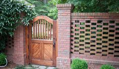 Few Shots Of A Custom Gate And Pierced Brick Wall We Designed. Turned Out Nice!
