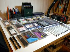 https://flic.kr/p/5NLRSz   Copic Prismacolor Faber Castell Staedtler Pigment liner sets 3   Collection of pigment liners.  Blog entry: robotninjamonsters.blogspot.com/2008/12/review-of-prismac...