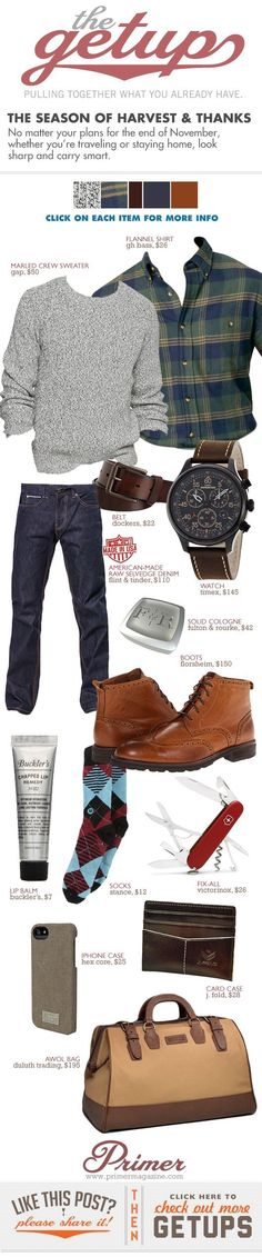 "The Getup: The Season of Harvest & Thanks - Primer [always clean and ""safe"" style] - big and tall mens clothing, cheap mens clothing store, mens fall clothing Mode Masculine, Sharp Dressed Man, Well Dressed Men, Look Fashion, Winter Fashion, Fashion Check, Fashion Sale, Fashion Kids, Sport Fashion"