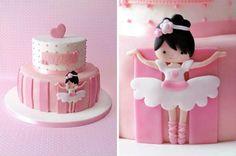 Princess cake by Couturecakesbyolga Ballet Cakes, Ballerina Cakes, Ballerina Birthday, Birthday Cake Girls, Sweet Cakes, Cute Cakes, Fondant Cakes, Cupcake Cakes, Dancer Cake