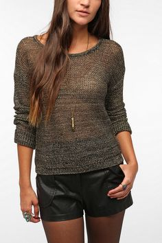 byCORPUS Metallic Mesh Sweater  #UrbanOutfitters