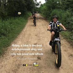 Riding a bike is the best antidepressant drug and only has good side effects - Gunnar Rempel  🐝 🚴‍♀️🚴🏼‍♂️ #buzzybeebike #chiangmai #thailand #ebike #ebiking #fatbike #fatbiking #cyclingtour #cycletour #cycling #electricbicycle #thailandtravel #lovethailand #amazingthailand #thailandholiday #antidepressant #antidepressants #gunnarrempel #sideeffects #goodsideeffects